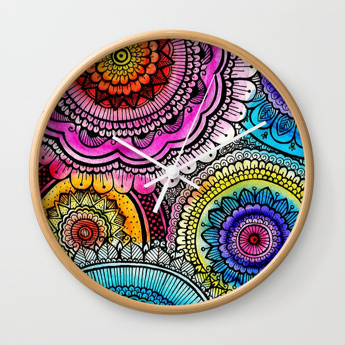 mandala Wall Clock by naxy
