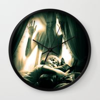 horror Wall Clocks featuring Horror by Joe Roberts