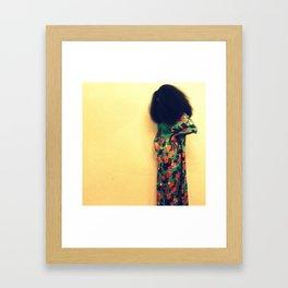 Afro : Vintage Style Framed Art Print