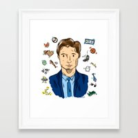 mulder Framed Art Prints featuring Fox Mulder  by sarah sawtelle