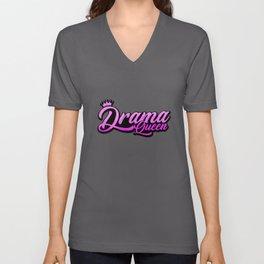 drama queen queen bitch friends coronation gift Unisex V-Neck