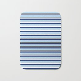 CLASSIC BLUE STRIPE DESIGN Bath Mat