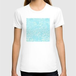 Forget Me Knot - Little Flowers on aqua T-shirt