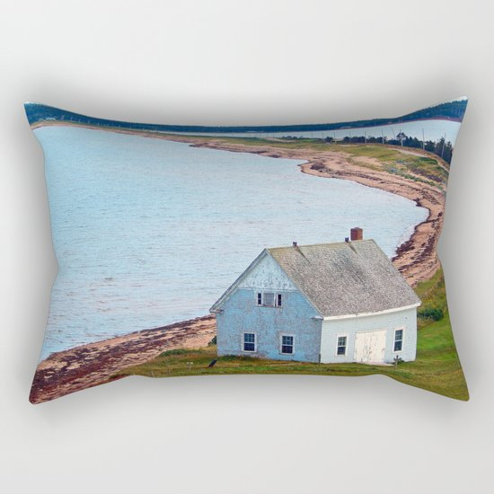 Beach and Causeway, seen from Above Rectangular Pillow