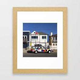 Mondrian matchy matchy Framed Art Print