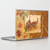 turkey Laptop & iPad Skins featuring Wild Turkey by Edith Jackson-Designs