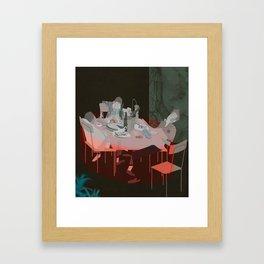BLOOD UNDER THE TABLECLOTH Framed Art Print