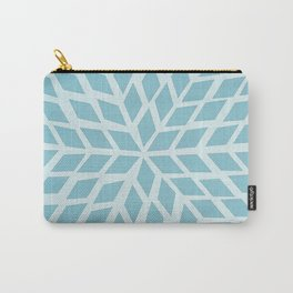 Light blue, diamond, mosaic pattern. Moroccan tile. Carry-All Pouch