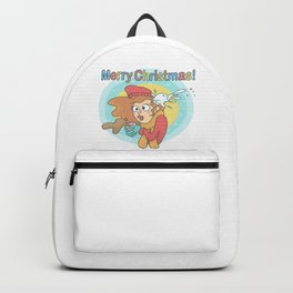 Merry Christmas Snowball Backpack