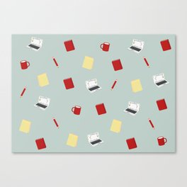 Red Writing Hood Canvas Print