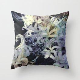 Lycoris Albiflora II Throw Pillow