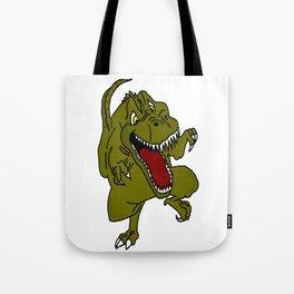 Rampaging TRex Dinosaur Tote Bag