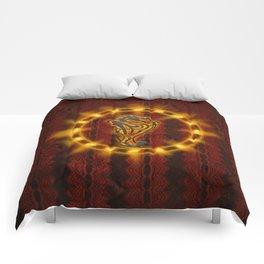 Awesome tribal dragon Comforters