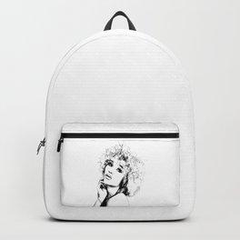 Black Woman Portrait Minimal Drawing Backpack