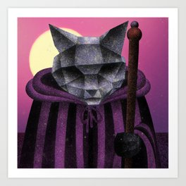 Traveler (Electric Catnip) Art Print