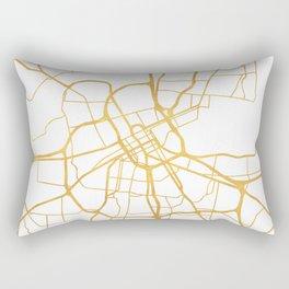 NASHVILLE TENNESSEE CITY STREET MAP ART Rectangular Pillow