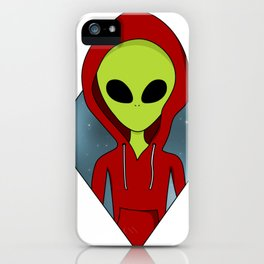 Hooded alien iPhone Case