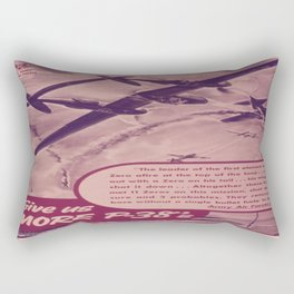 Vintage poster - Give Us More P-38's Rectangular Pillow