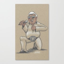 Captain Karaoke Canvas Print