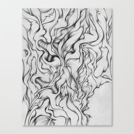 the daydream dies tonight Canvas Print