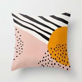 Abstract, Mid century modern art Throw Pillow