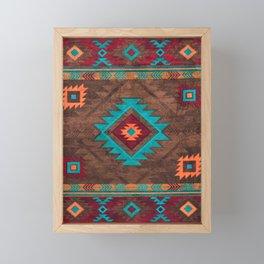 Bohemian Traditional Southwest Style Design Framed Mini Art Print