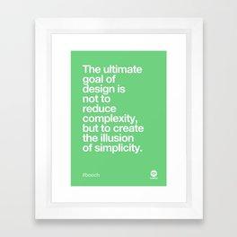 Design Quotes #3 Framed Art Print