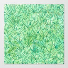 Green foliage Canvas Print