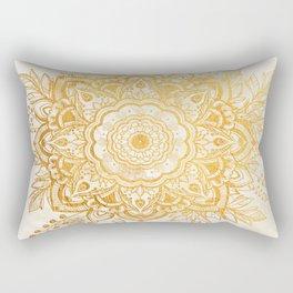 Queen Starring of Mandala-Gold Sunflower II Rectangular Pillow