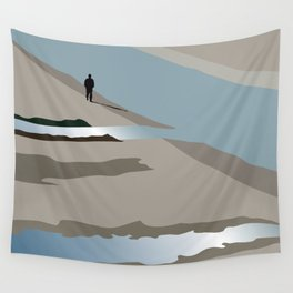 Man and river Wall Tapestry
