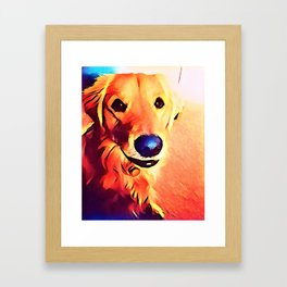 The GOLDEN from our POP YOUR POOCH line Framed Art Print