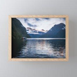 Milford Sound over night cruise at beautiful Harrison Cove Framed Mini Art Print