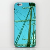 sailboat iPhone & iPod Skins featuring sailboat by Vickn
