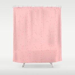 Light Pink Shambolic Bubbles Shower Curtain