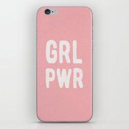 GRL PWR (pink) iPhone Skin