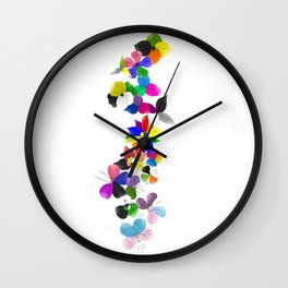 Pride flowers Wall Clock