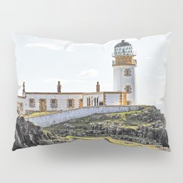 Lighthouse at Neast Point, Isle of Skye, Scotland Pillow Sham