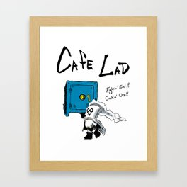 Cafe Lad Framed Art Print