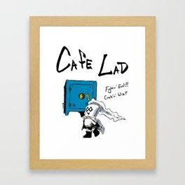 Cafe Lad Framed Art Print