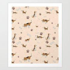 Beagles Art Print