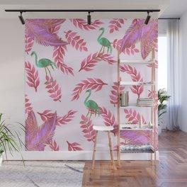 Flamingo rose Wall Mural