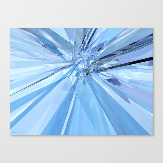 Blue Crystals Canvas Print