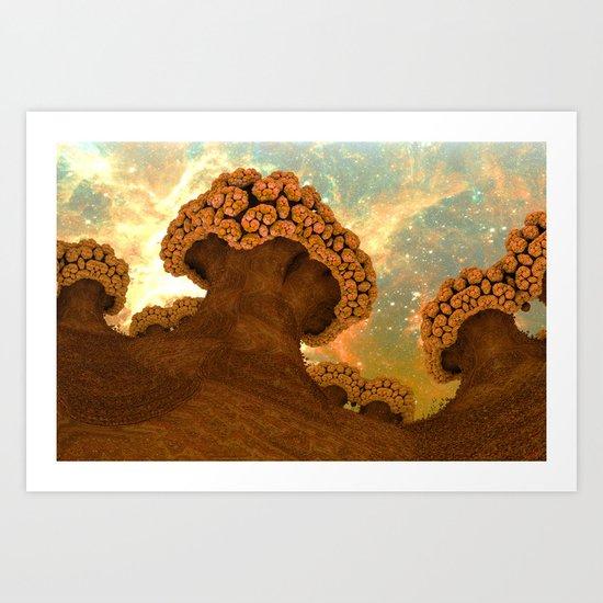 Broccoli Planet in Fall Art Print