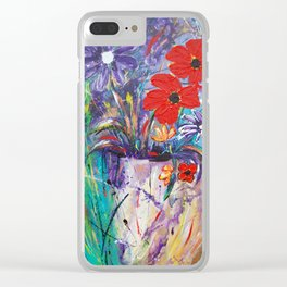 Vase of Love Clear iPhone Case