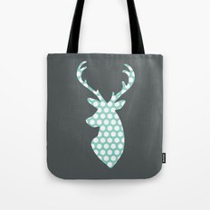 Deer head, art, polka dot, modern, vintage Tote Bag