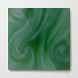 Green SWIRL Metal Print
