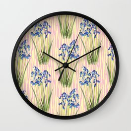 Bluebell Meadow Wall Clock