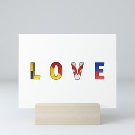 Love - Navy Code Mini Art Print