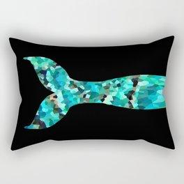 Mermaid Tail Turquoise Mint Aqua Rectangular Pillow