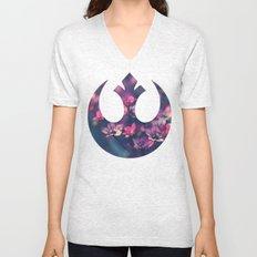 Floral Rebel Alliance Unisex V-Neck